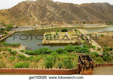 Stock Images of High angle view of a building seen from a fort.