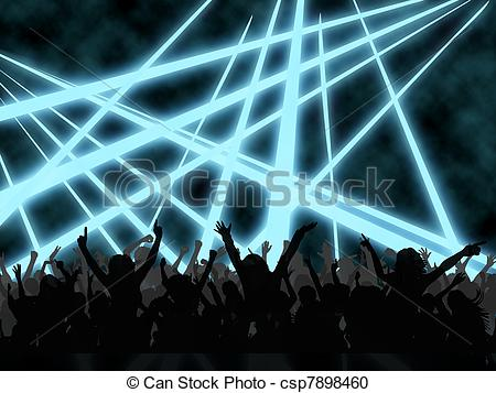 Stock Illustration of clubbing.