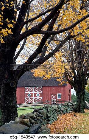 Picture of Old barn, Ambler Farm, Town of Wilton, CT, USA x5q.