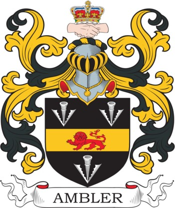 Ambler Coat of Arms Meanings and Family Crest Artwork.