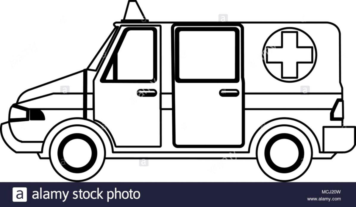 Ambulance Clip Art Black And White.