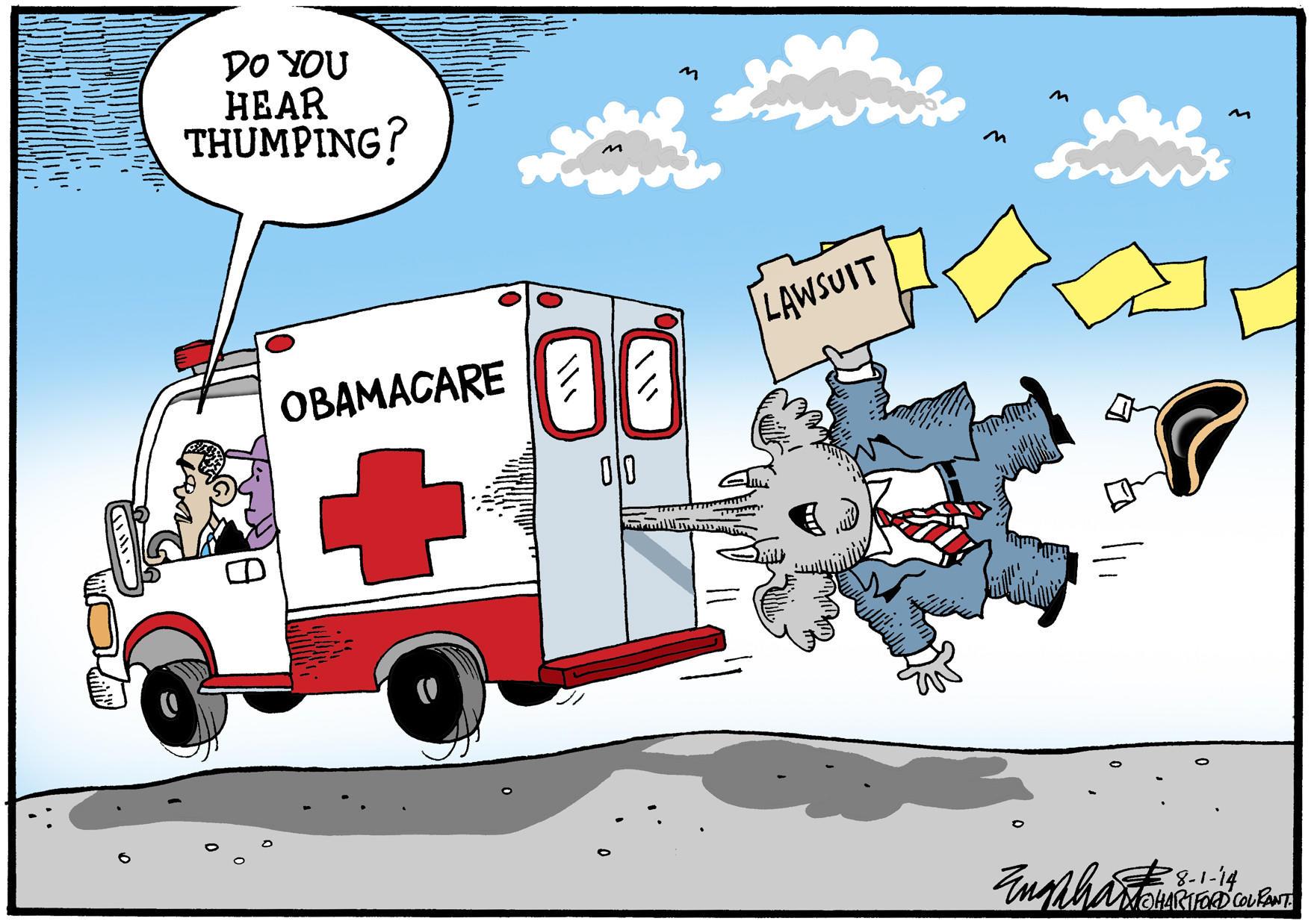 Republicans sue Obama.
