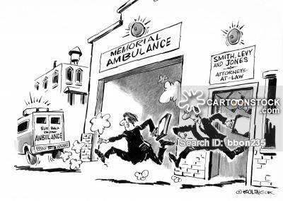 Ambulance Chaser Cartoons and Comics.