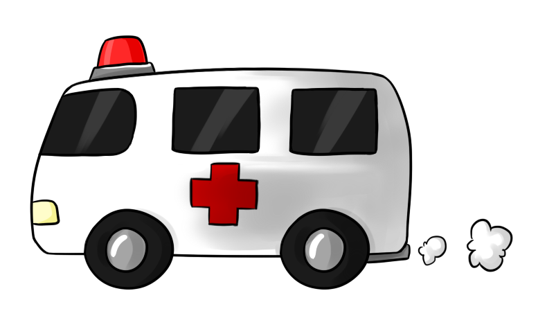 Cartoon Ambulance Clipart.