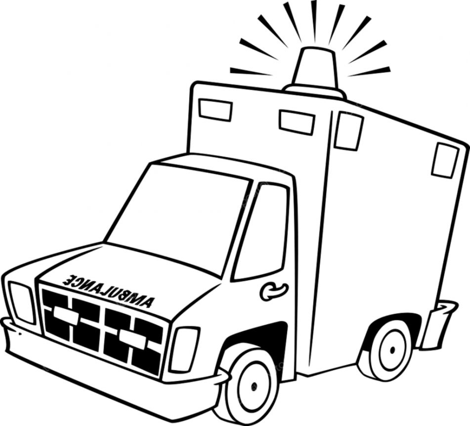 Ambulance Clip Art Black And White.