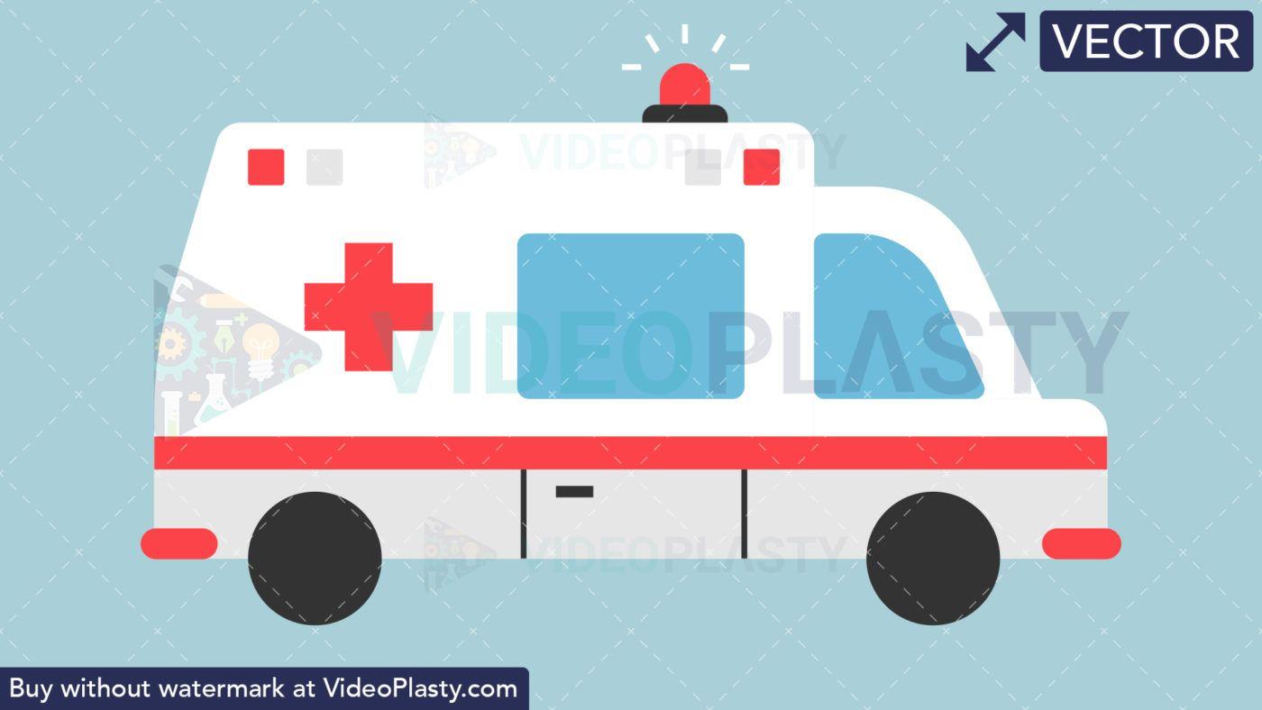 Ambulance Flat Icon [VECTOR].