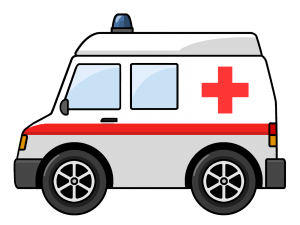 Ambulance Clipart transparent PNG.