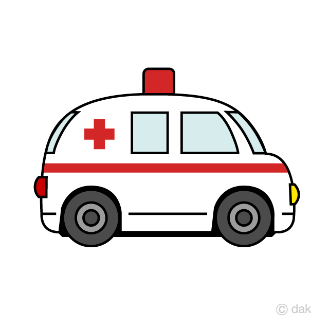 Free Cute Ambulance Clipart Image|Illustoon.