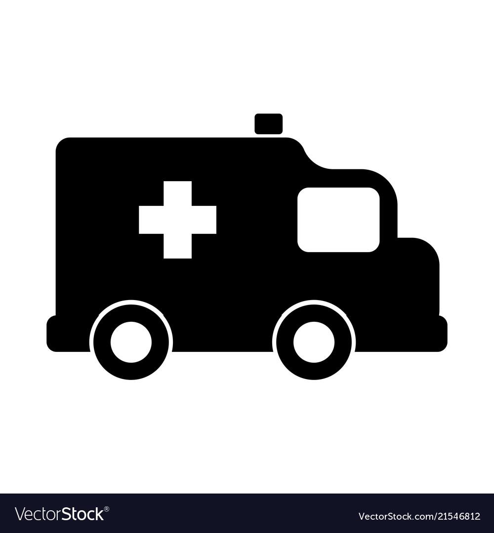 Isolated ambulance icon.