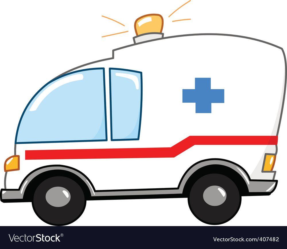 Ambulance cartoon Royalty Free Vector Image.