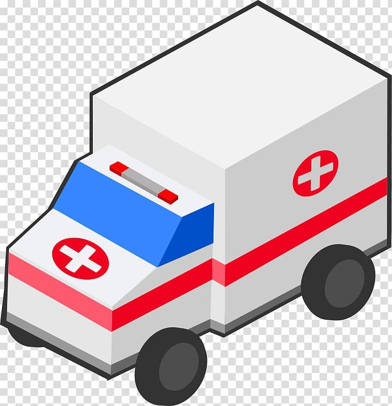 Ambulance Emergency vehicle Isometric projection , ambulance.
