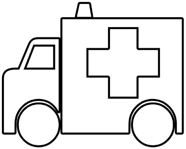 Free Ambulance Coloring Pages.