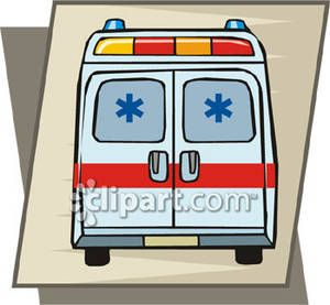 Ambulance Driver Clip Art back of ambulance.