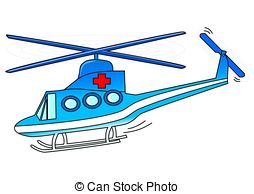 Clipart of Yellow Air Ambulance Illustration.