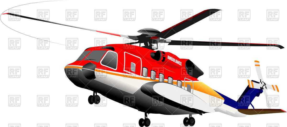 Ambulance helicopter Vector Image #61985.