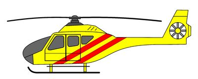 Yellow Air Ambulance Illustration Royalty Free Stock Photography.