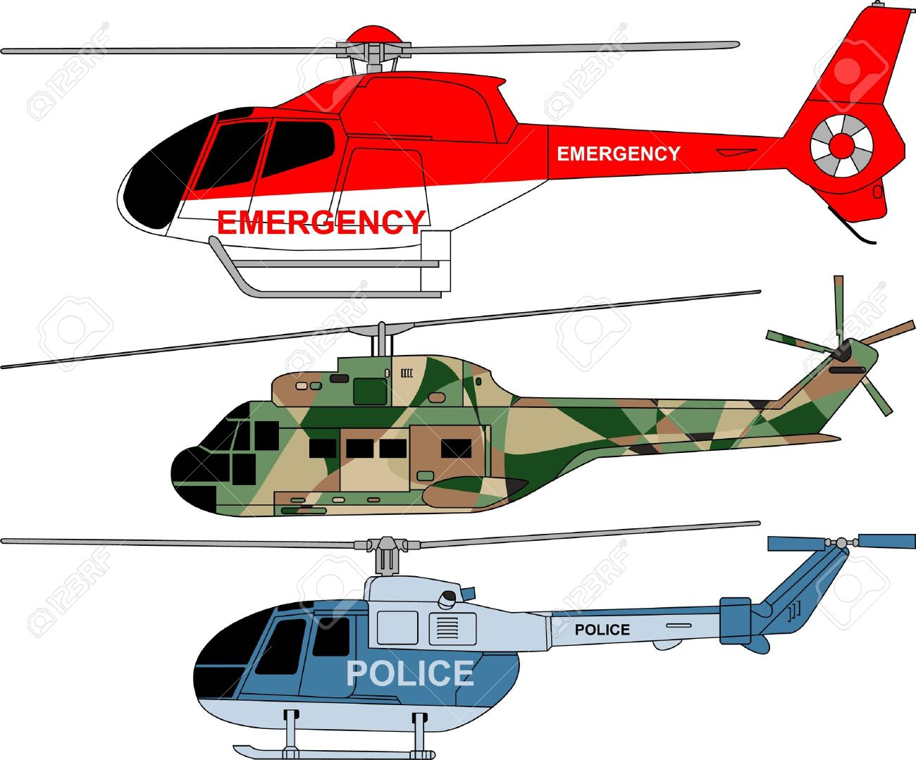 Helicopter Cartoon Rescue.