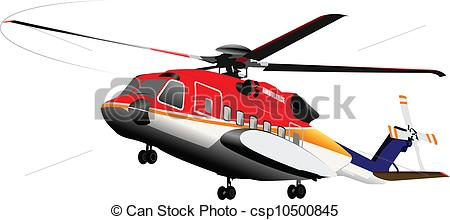 EPS Vector of Ambulance or army helicopter. Vect.