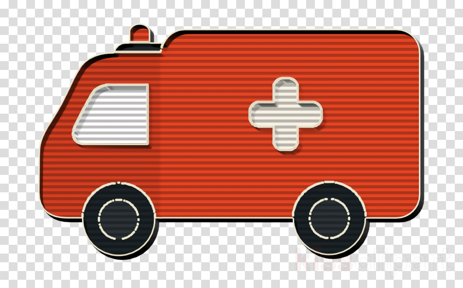 Transport icon Ambulance icon Medical Elements icon clipart.
