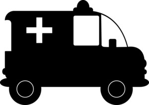 Ambulance clipart image clip art silhouette of an.