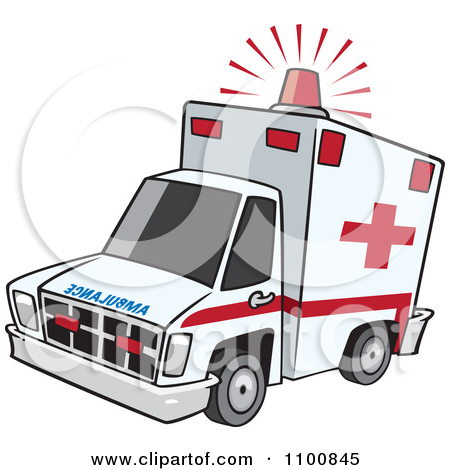 1182 Ambulance free clipart.