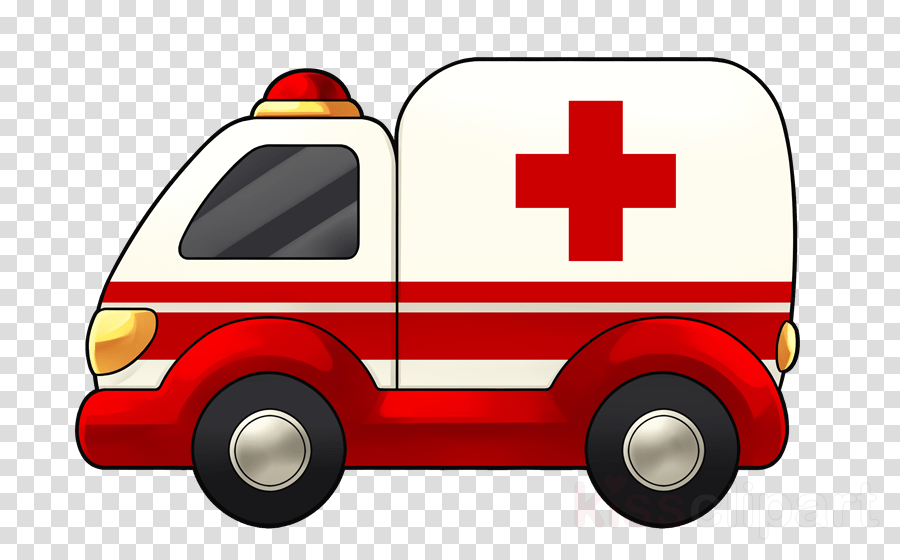emergency vehicle transport vehicle red ambulance clipart.