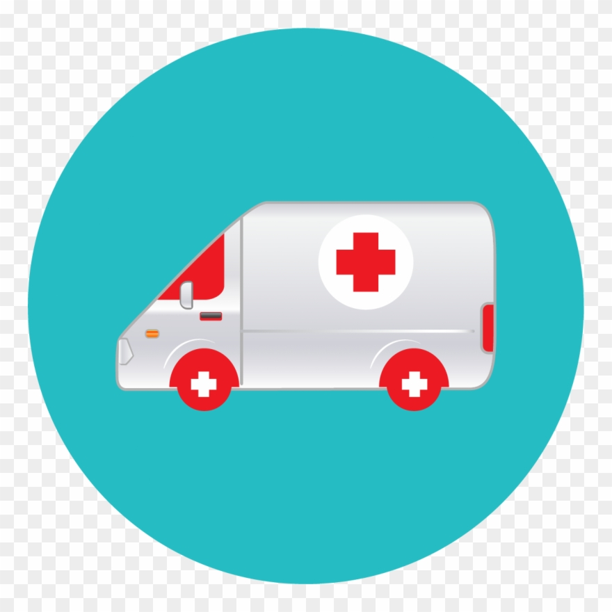 Image Free Ambulance Vector Top View.