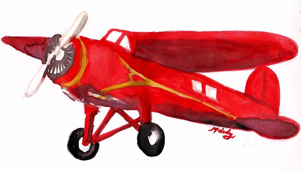 Biplane clipart plane amelia earhart, Biplane plane amelia.