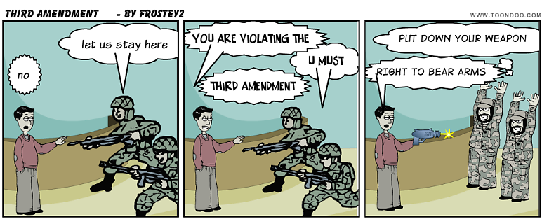 3rd amendment clipart.