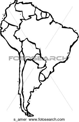 Clipart of South America s_amer.