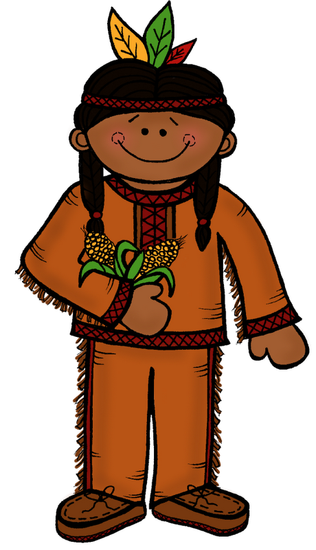 Cute Native American Clipart.
