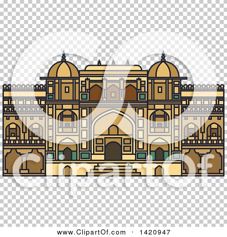 Clipart of a India Landmark, Amer Fort.