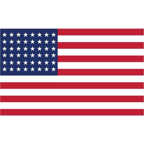 American flag rectangle clipart.