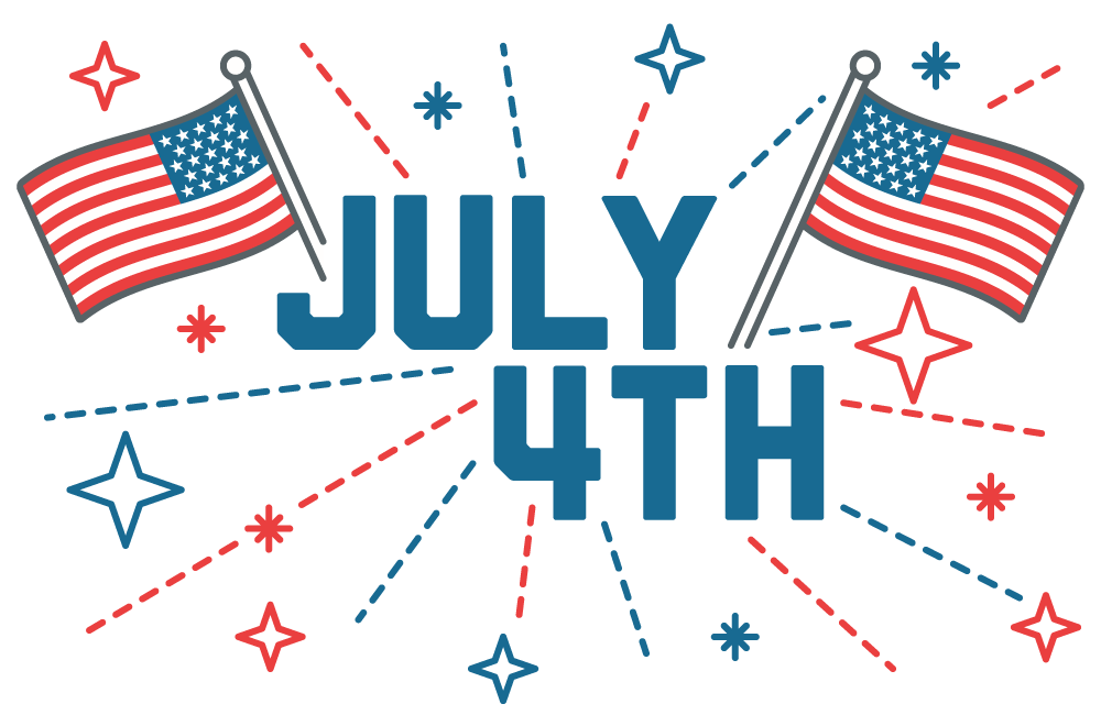 Happy 4th of July 2019: Cliparts, American Flags for USA.