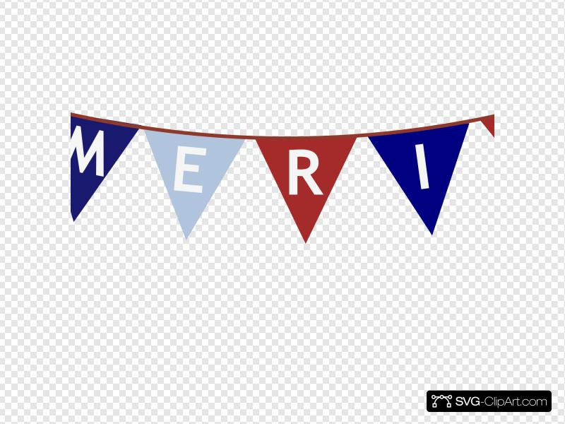 America Banner White Font Clip art, Icon and SVG.