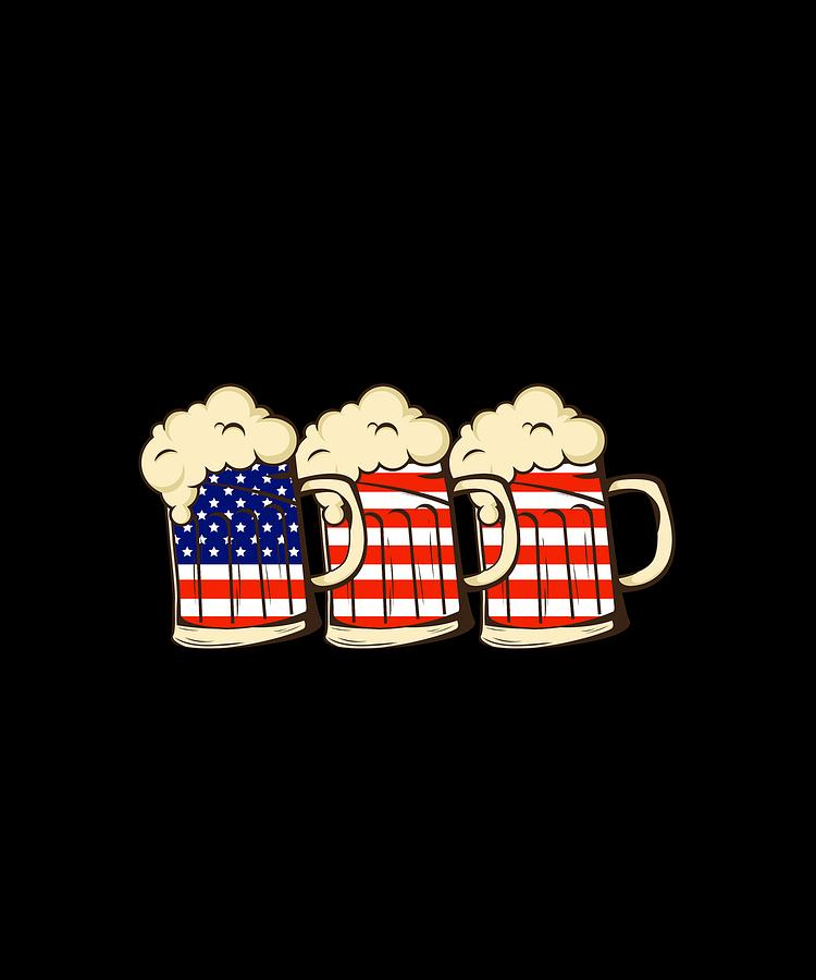 4th Of July Shirts For Men Beer American.