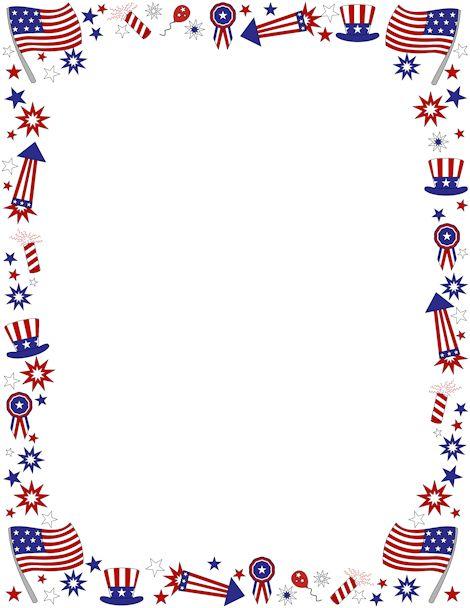 America Border Clipart.