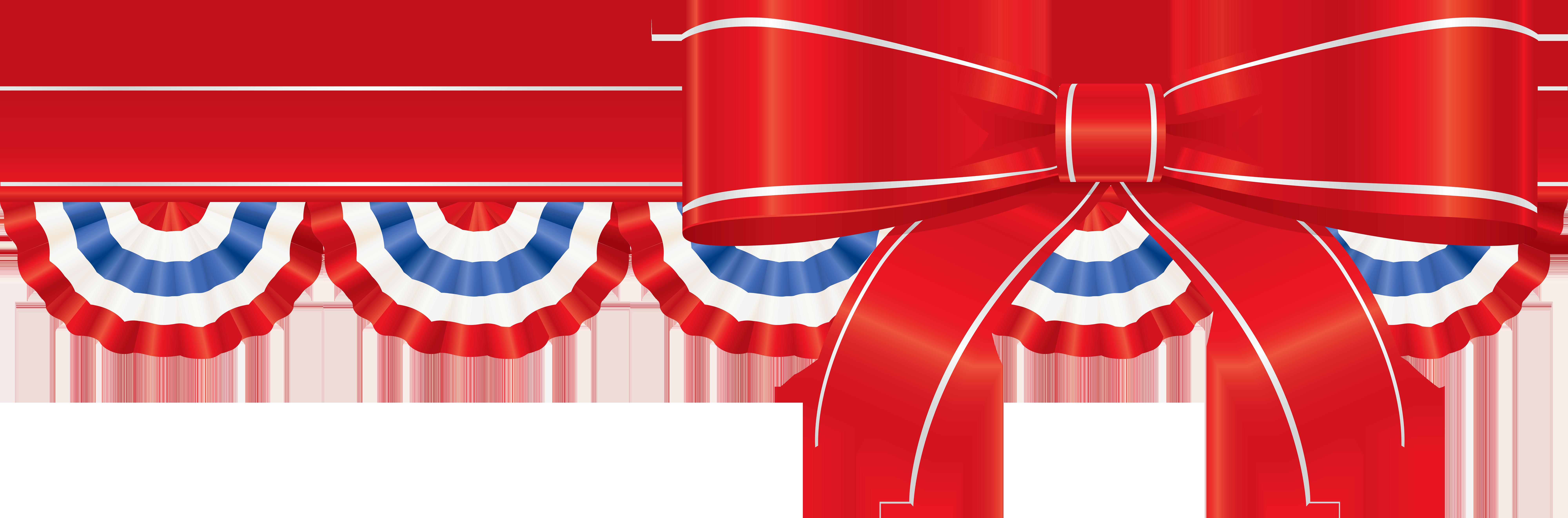 America Ribbon Decor PNG Clip Art Image.