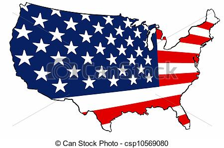 United States of America Clip Art.