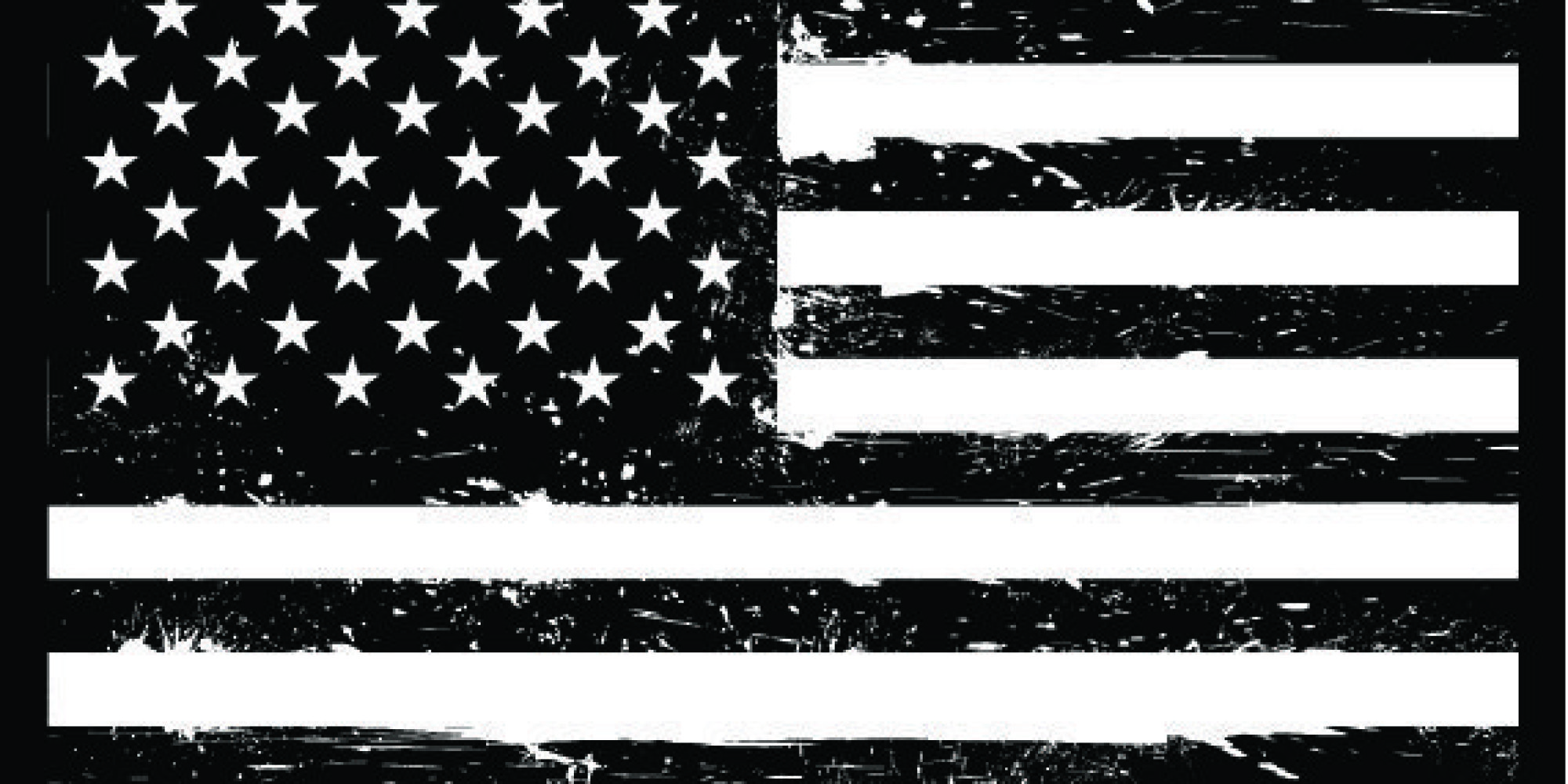 america flag clipart black and white - Clipground
