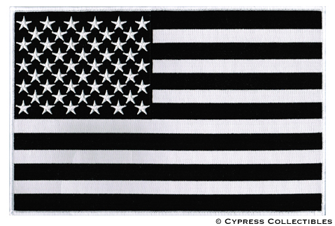 American Flag Black and White.