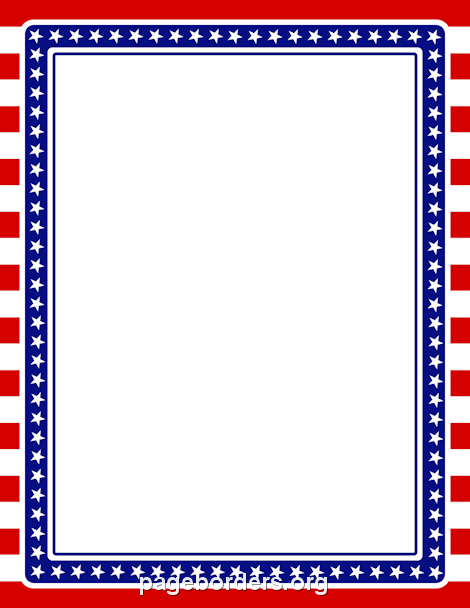 american flag borders clipart.