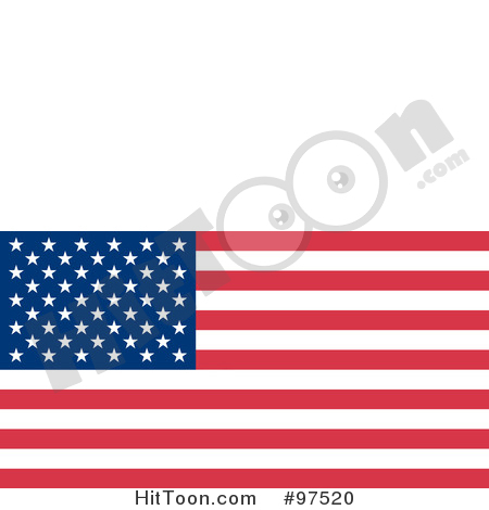 American Flag Clipart #97520: Fourth of July American Flag with.