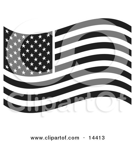 Patriotic American Flag With Stars And Stripes Clipart.