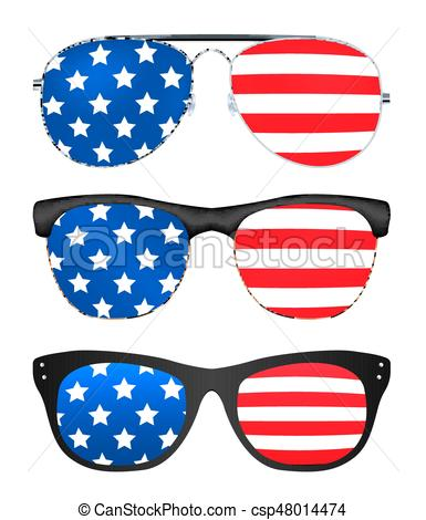 sunglasses with united states of america flag.