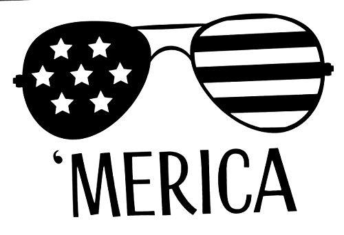 Amazon.com: Custom American Flag Sunglasses Vinyl Decal.