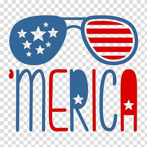 America illustration, United States Aviator sunglasses.
