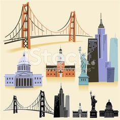 15 Best U.S. State Landmarks Clip Art images.