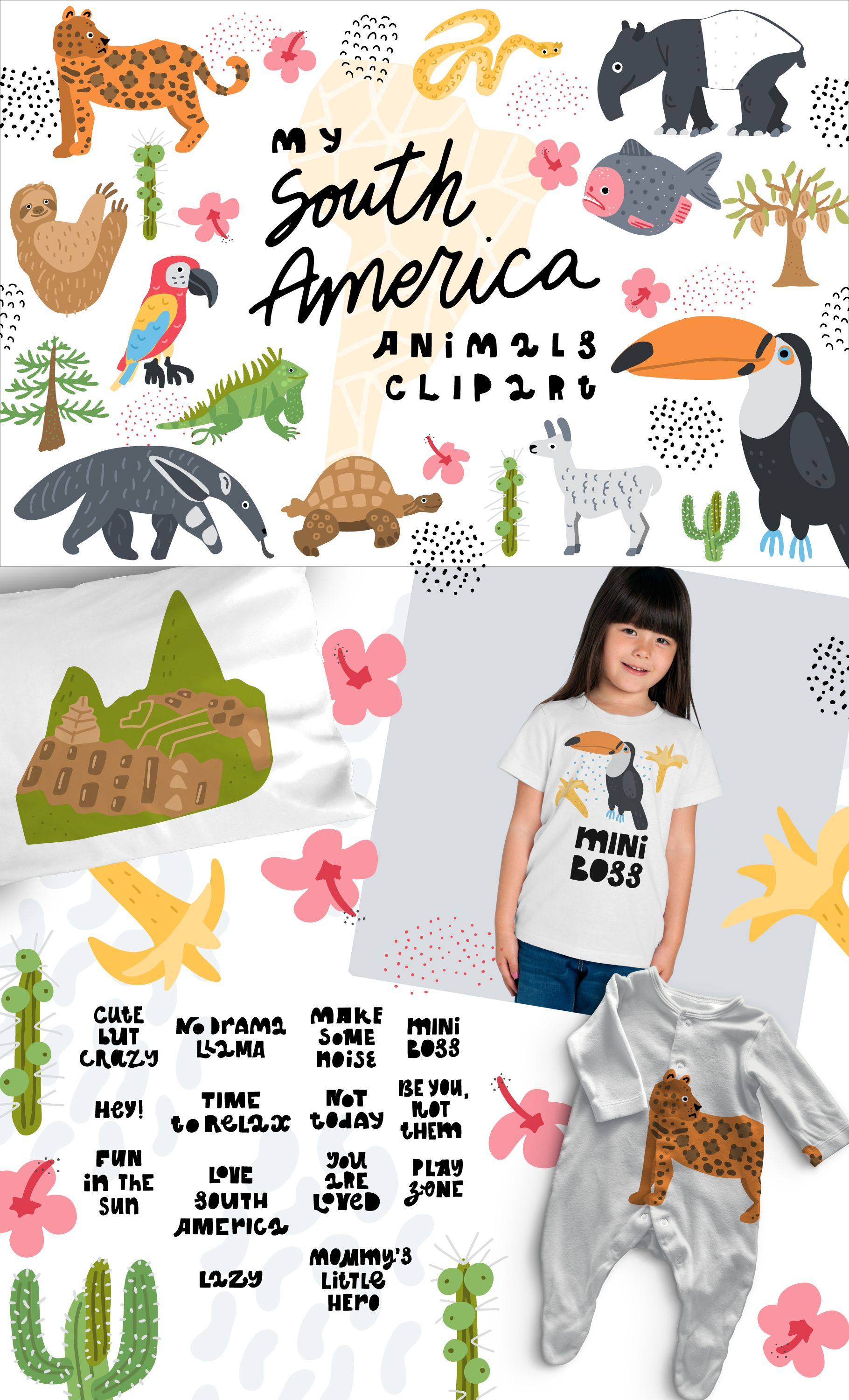 AD: My South America Animals Clipart is nature.
