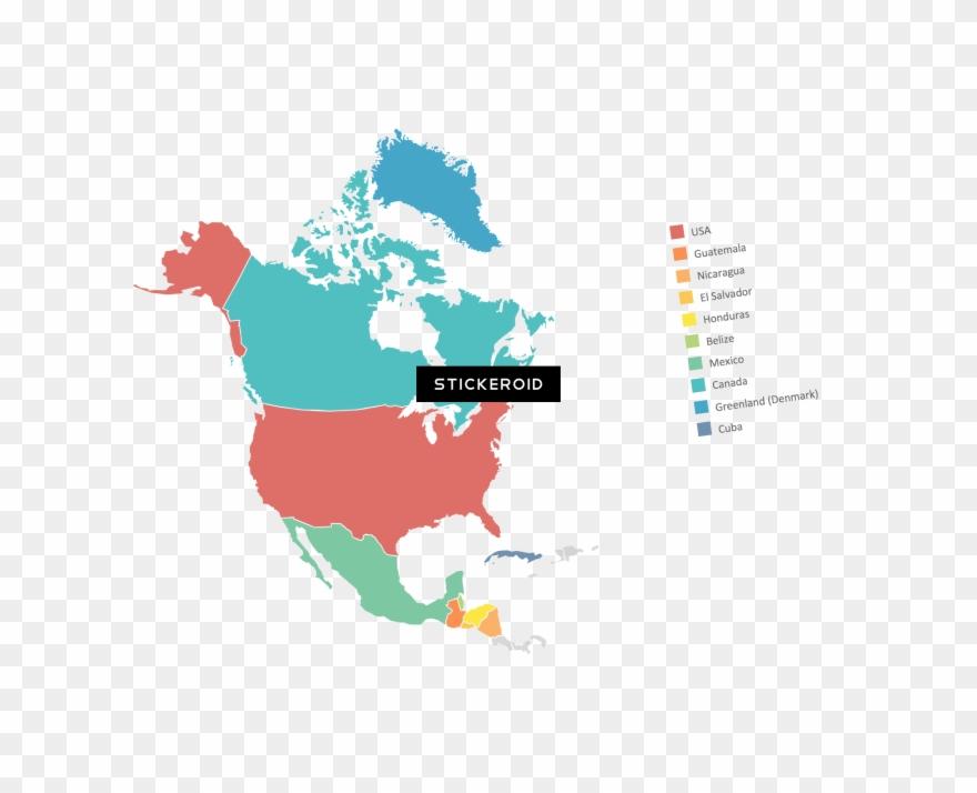 North America Map Clipart (#2400185).